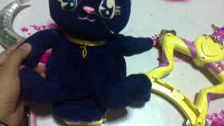 SOLD SAILOR MOON LOT: PGSM TALKING LUNA, TAMBOURINE, MOON STICK