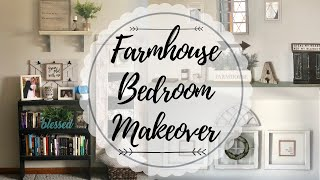 FARMHOUSE MASTER BEDROOM MAKEOVER | DECORATE WITH ME | FARMHOUSE BEDROOM