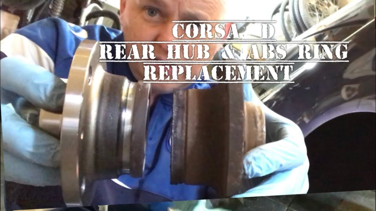 Vauxhall Opel Corsa D Rear Hub Wheel Bearing & ABS Ring Replacement, Repair  (How To) DIY c0045