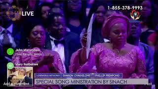 Sinach prestation au Mariage de Sharon Oyakhilome & Phillip Frimpong