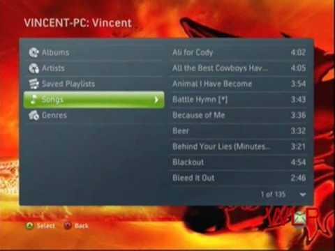 Zune 120GB on the Xbox 360
