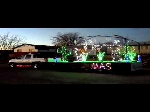 OteroSTEM Christmas parade float.