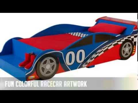 kidkraft toddler bed race car 2