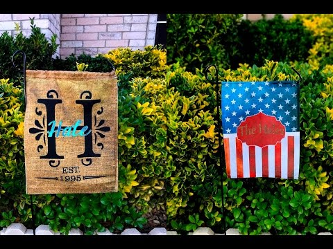 SINGLE & DOUBLE SIDED SUBLIMATION GARDEN FLAGS