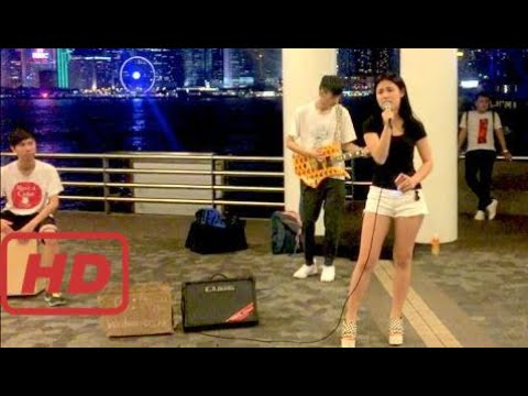 Hong Kong Girl Musicians | Victoria Harbour Avenue of Stars | Street Music | Chinese Song | C  #MOA