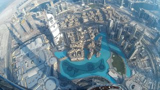 My visit to Dubai 60secs elevator excitment inside the Burj Khalifa from ground to 124th floor!