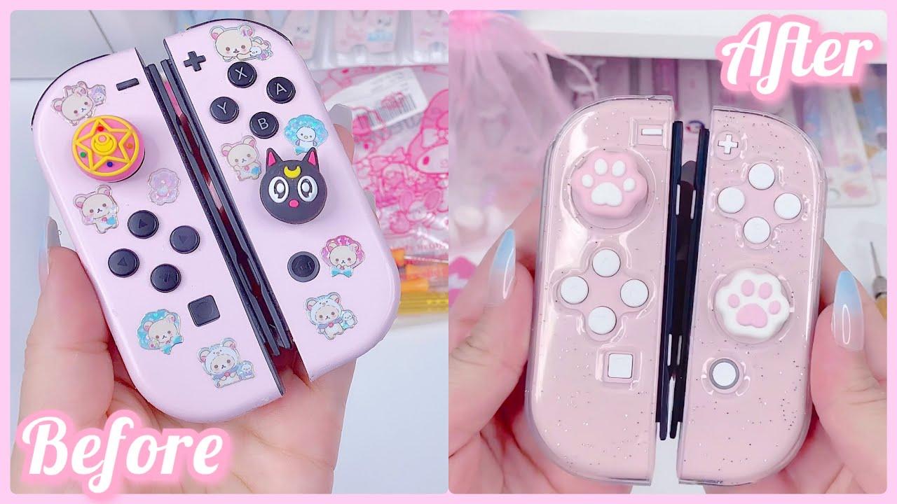 Customizing My Pink Nintendo Switch Joy Cons - Shell Replacement