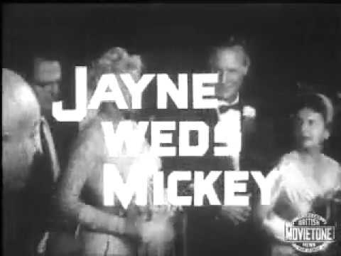 Jayne Mansfield & Mickey Hargitay Wed Jan 13, 1958 - YouTube