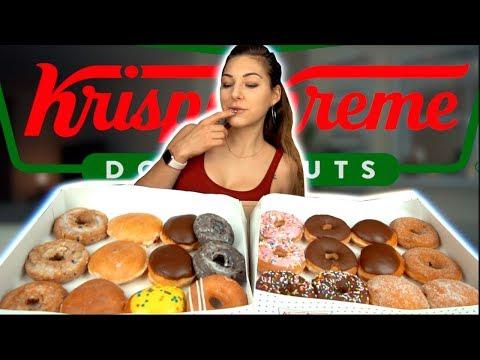 GIRL EATS EVERY SINGLE Krispy Kreme DONUT   6000+ KCAL