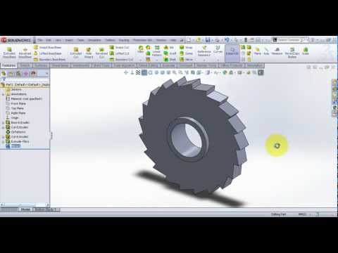 Video Tutorial on Modeling Milling Tool Cutter in SolidWorks