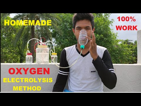 How to make oxygen gas at home by electrolysis method, #oxygen
