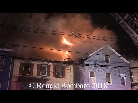 Paterson NJ Fire Department 4th Alarm Fire 518 Summer St