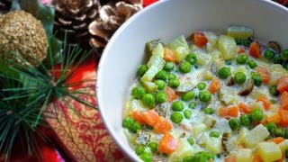 Quick Russian Salad Recipe | Vegetarian Christmas Dinner | Spice It Up Ep.6