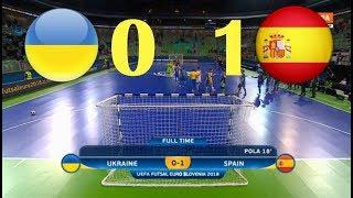 Украина  VS Испания. Futsal. 1/4 Финала EURO. Highlight in HD