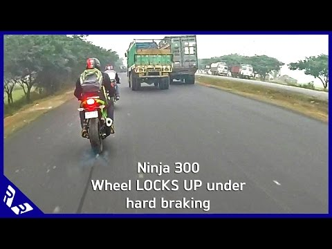Do we really need ABS in Motorcycles? (Ninja 300 Brakes lock under hard braking)