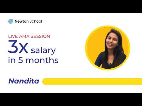 How to get 3x salary in 5 months - Nandita | Newton School Alumni | Full Stack Engineer, Briq