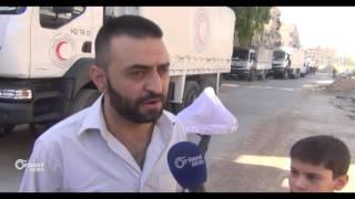 دخول مساعدات إنسانية إلى مدن حرستا ومسرابا ومديرا