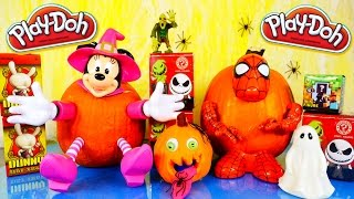 Play Doh Pumpkin How To Decorate Pumpkins Spiderman Minnie Mouse Halloween Blind Box Special