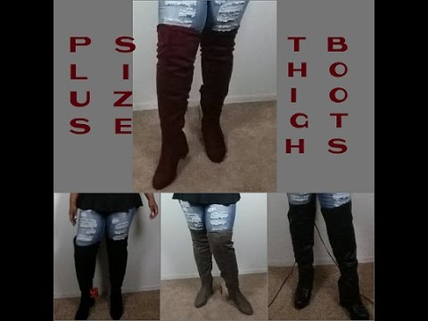 54421a334f2 Affordable Over the knee/ Thigh High Boots for my plus size/wide calf  Divas!!!