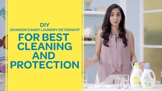 Johnson's Baby Laundry Detergent For Baby's Clothes - DIY Test