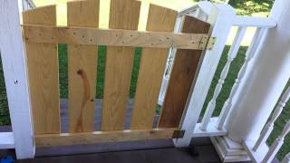 Easy Diy Porch Gate Or Baby Gate Tutorial