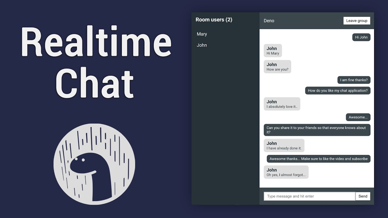 Build Realtime Chat App with Deno and WebSockets