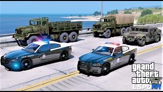 GTA 5 Florida Highway Patrol Escorting National Guard Trucks To Areas Affected By Hurricane Michael