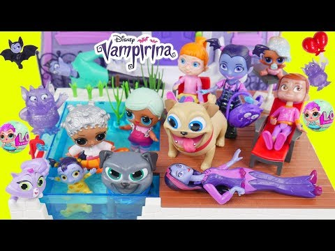 Vampirina Disney Jr Pool Party Prank Jail Rescue Game   Surprise Puppy Dog Pals McDonalds Drive Thru