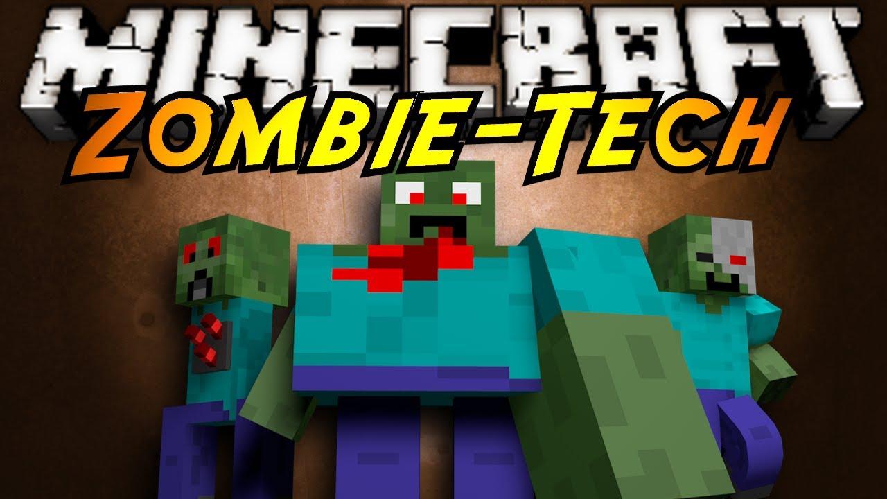 Minecraft mod showcase zombietech youtube