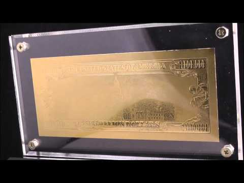 Gold Plated 1 Million Dollar Note