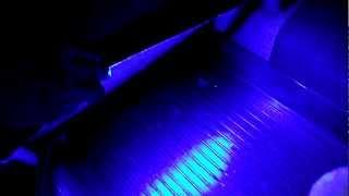 Видео отчет о подсветки ног в автомобиле
