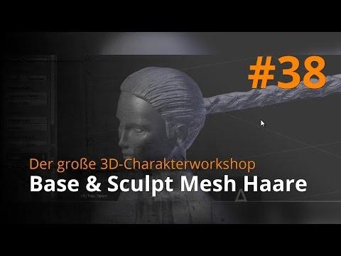 Blender 3D-Charakterworkshop Teil 1 | #38 – Base & Sculpt Mesh Haare