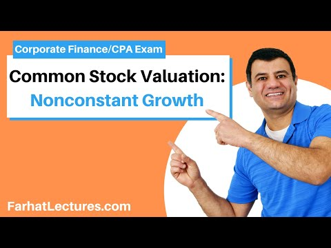 Nonconstant growth model for stocks corporate finance ch 8 p 3