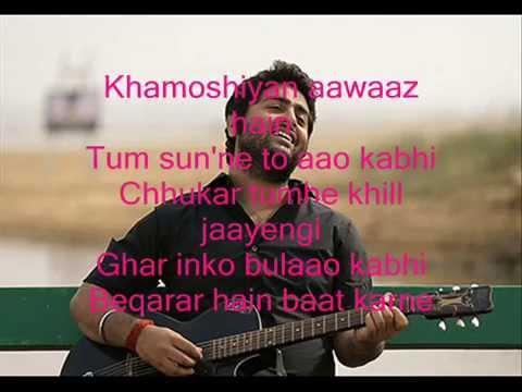Khamoshiyan Song with Lyrics (Arijit Singh) /...