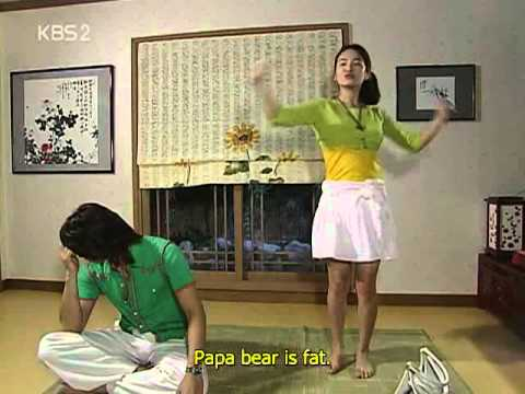 Korean drama Full House - Three bears song scene (adorable!)