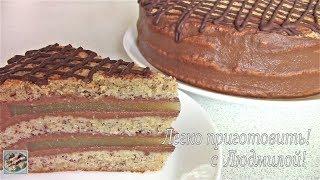 Торт Банан-Апельсин-Шоколад. Постная, вегетарианская выпечка. Легко приготовить!
