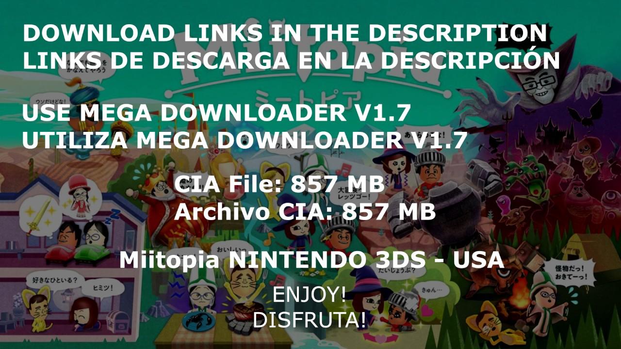 Miitopia FULL GAME (EUR - MULTI6)  CIA AND  3DS DOWNLOAD [MEGA]