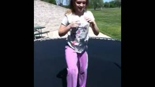 Me and Amanda jumping on the trampoline Thumbnail