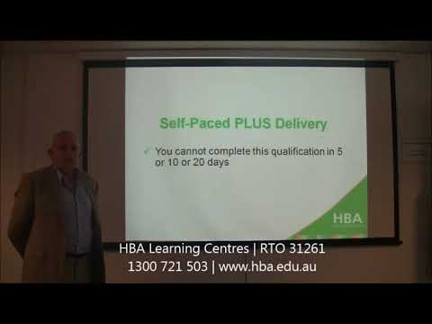 HBA Self-Paced PLUS Delivery: TAE40116 Certificate IV In Training And Assessment