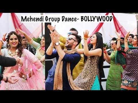 Bollywood Mehendi Group Dance 2017 || Sangeet Friends Dance Bollywood Mix
