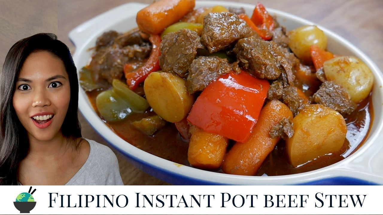Mechado Recipe In Instant Pot How To Cook Filipino Beef Stew Filipino Beef Recipes Youtube
