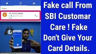 SBI Fake Customar care Asking my ATM Details Should i Give? Live video recording