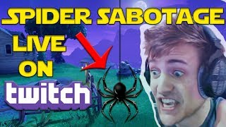 Fortnite - Ninja Deals With Spider Live on Twitch & Still Gets Victory Royale!