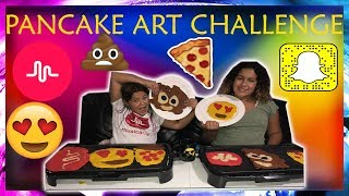 PANCAKE ART CHALLENGE - MUSICALLY, SNAP CHAT, EMOJI, PIZZA - LIFE WITH BROTHERS