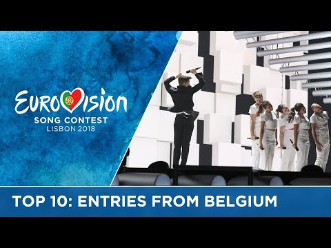 TOP 10: Entries from Belgium at the Eurovision Song Contest