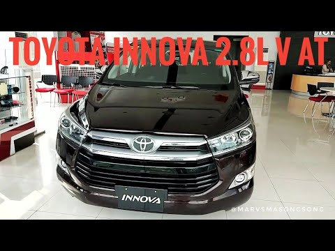 2018 Toyota INNOVA 2 8 V(Top-end) AT | Blackish RED (Philippines)