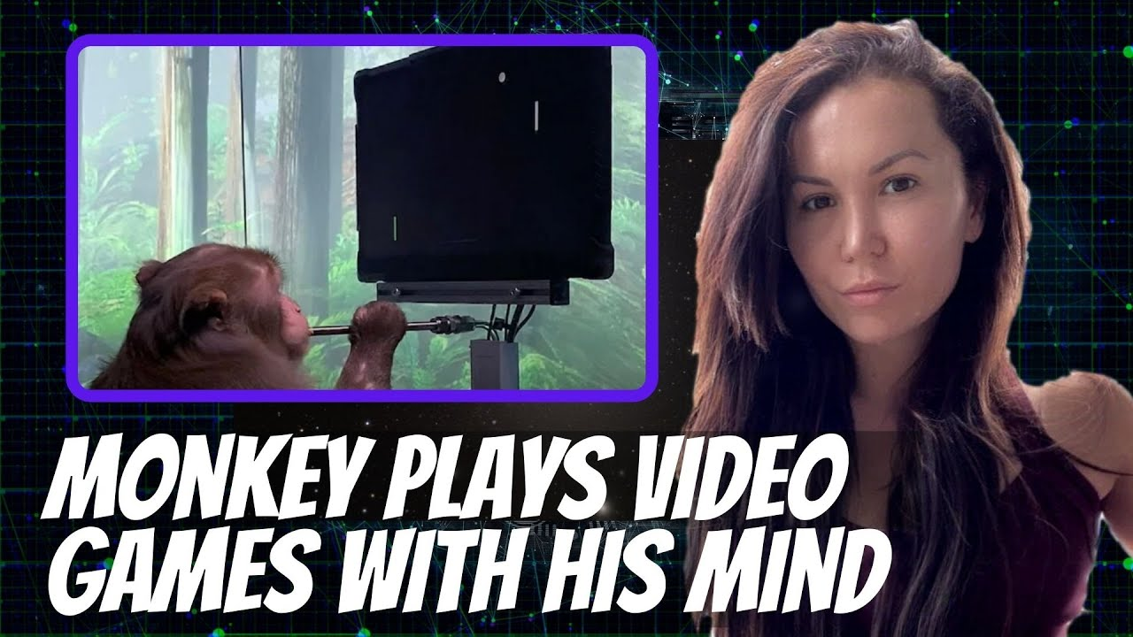 Brain to machine interface - Elon Musk and Neuralink's monkey playing a video game with it's mind.