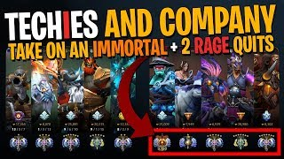 Techies, Immortal Storm Spirit & Rage Quits - DotA 2 + Immortal Treasure Opening