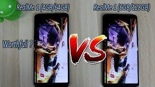 RealMe 1 (4GB) Vs (6GB) Comparision !! Speed Test Comparision !! HINDI