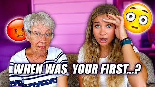 ASKING MY GRANDMA AWKWARD QUESTIONS (she got mad)